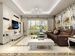 清新简欧风格三室两厅室内装修效果图赏析