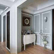 简欧风格简约舒适进门玄关柜设计装修效果图