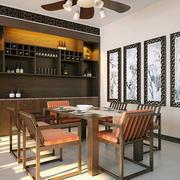 新中式风格二居室餐厅酒柜设计效果图赏析