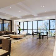 144平米现代简约风格客厅吊顶装修效果图