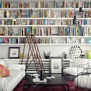 52平米北欧风格客厅书架设计效果图鉴赏