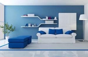现代简约风格一居室客厅置物架装修效果图赏析