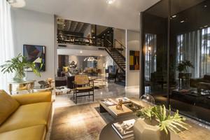 现代工业loft风格复式楼室内装修效果图赏析