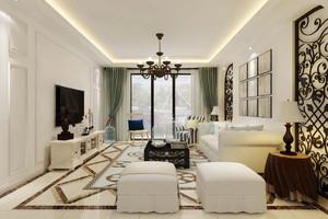 120平米现代美式风格室内装修效果图鉴赏