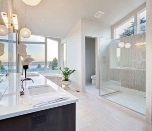 现代简约美式风格大户型卫生间装修效果图