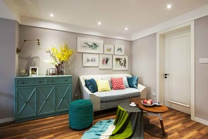 93平米清新宜家风格三室两厅室内装修效果图赏析