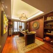 中式风格大户型精致典雅书房设计装修效果图