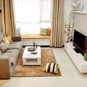 现代简约居室客厅飘窗装修效果图欣赏