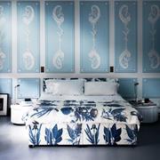 简欧典雅浪漫风格冷色卧室效果图