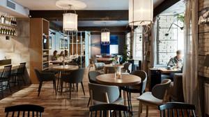 188平米现代简约风格咖啡厅装修效果图赏析
