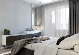60平米现代风格一居室小户型室内设计效果图