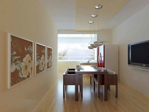 简约中式风格餐厅背景墙装修效果图赏析