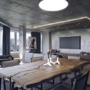 现代工业风格三居室创意餐厅装修效果图