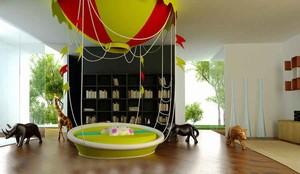 现代简约风格创意时尚儿童房设计装修效果图
