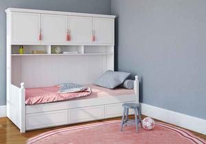 简欧风格清新舒适实木儿童床装修效果图