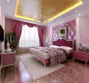 经典法式风格大户型卧室背景墙设计装修效果图