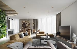 现代简约工业风格两室两厅室内装修效果图