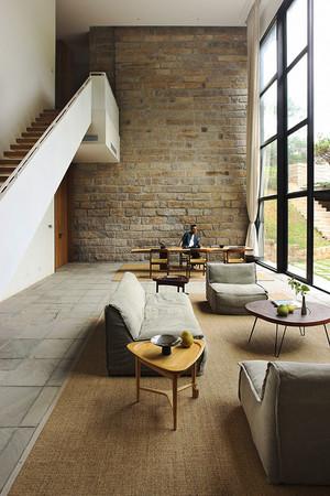 现代极简主义风格复式楼室内装修效果图赏析