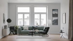 46平米北欧风格客厅装修效果图赏析