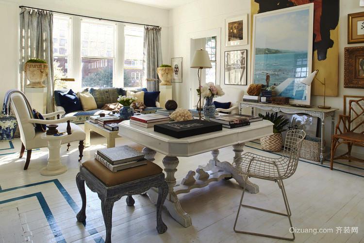 70平米欧式风格客厅窗帘设计效果图赏析