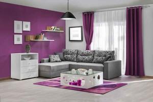 现代简约风格两居室客厅沙发茶几装修效果图