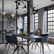 现代loft风格三居室餐厅装修效果图赏析