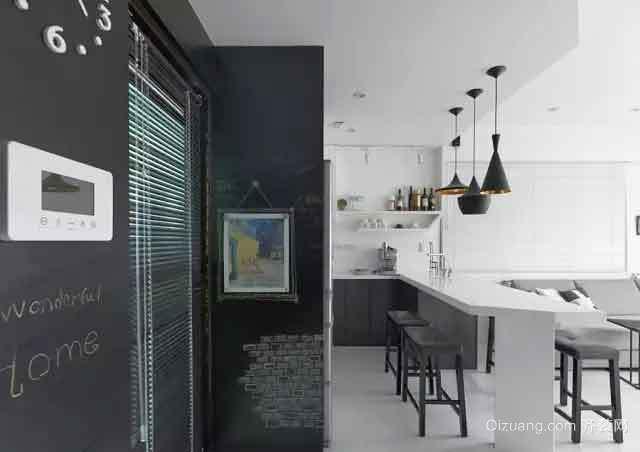 50平米现代风格lof单身公寓室内装修效果图
