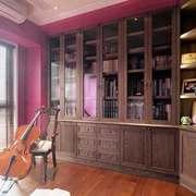 美式风格大户型室内书房设计装修效果图