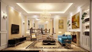150平米古典欧式风格大户型室内装修效果图案例