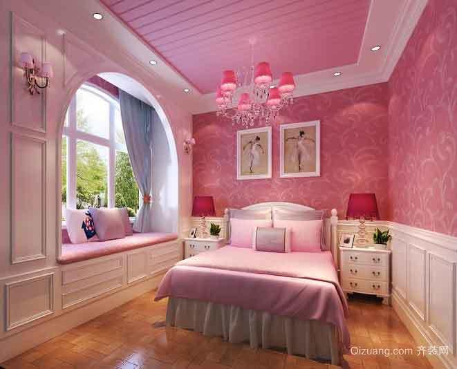 150平米典雅欧式风格三室两厅室内装修效果图案例
