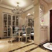 欧式风格别墅室内餐厅吊灯设计装修效果图