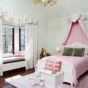 欧式田园风格大户型室内卧室装修效果图赏析