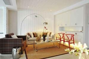 70平米简约风格日式两室一厅室内装修效果图案例
