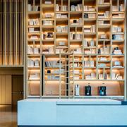 现代风格复式楼客厅创意书架设计效果图赏析