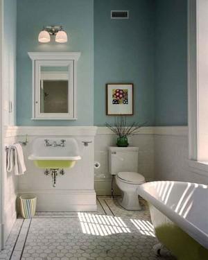 清新现代美式风格卫生间装修效果图赏析