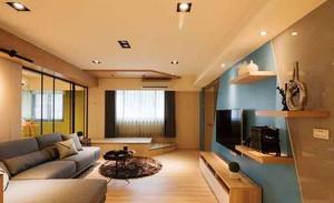 60平米现代简约风格小户型室内装修效果图赏析