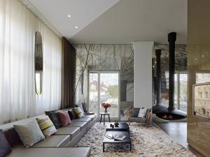 现代极简主义风格小别墅室内装修效果图赏析