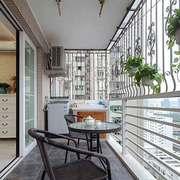 现代简约风格两居室阳台防护栏装修效果图鉴赏
