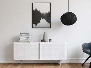 北欧风格小户型客厅白色玄关设计效果图