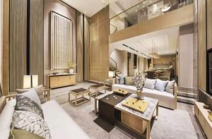242平米新中式风格别墅室内装修效果图赏析