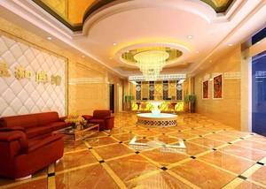 精致豪华欧式风格酒店大堂吊顶设计装修效果图鉴赏