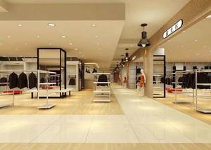 现代风格服装店设计装修效果图赏析