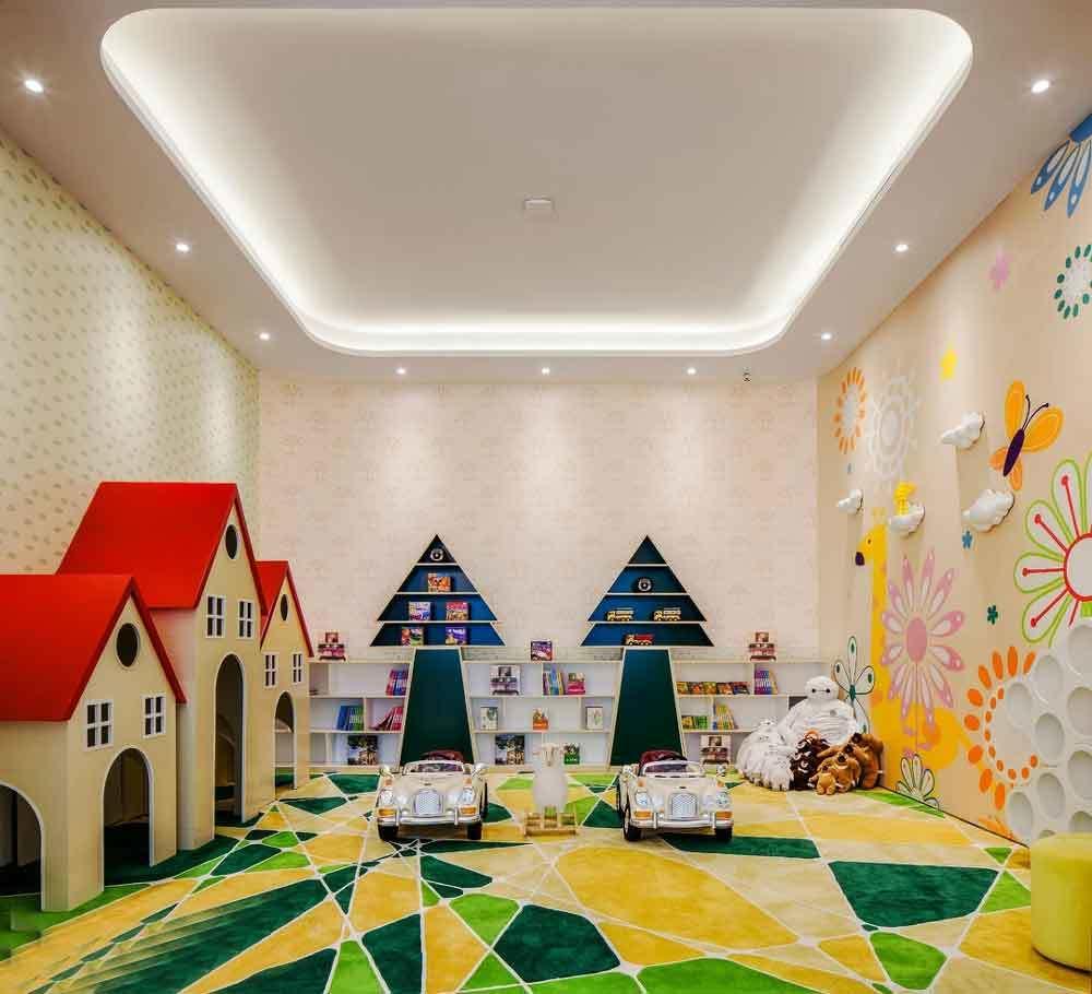 现代风格幼儿园室内墙面彩绘设计效果图