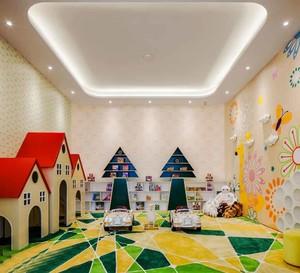 50平米现代简约风格幼儿园墙画设计装修效果图