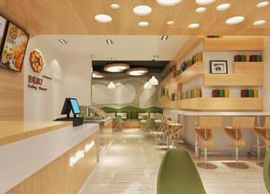 66平米现代简约风格快餐店设计装修效果图赏析