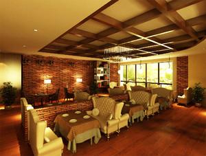 200平米后现代风格咖啡厅装修效果图