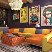 北欧风格三居室客厅背景墙装修效果图赏析