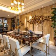 现代风格二居室创意餐厅背景墙装修效果图