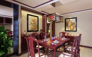 80平米中式风格餐厅吊灯装修效果图赏析