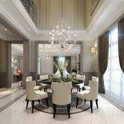 现代风格复式楼餐厅吊灯装修效果图赏析
